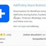 Kurzübersicht AddToAny Share Buttons